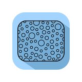 Sponge. The subject of personal hygiene. Flat icon. Isolated. Vector Stock Photo