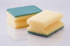 Sponge ware. Yellow sponges- closeup stock photo