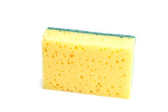 Sponge for washing dishes Royalty Free Stock Images