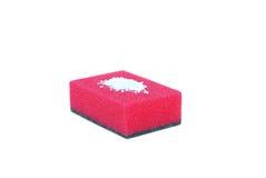 Sponge for washing dishes. On a white background Stock Image