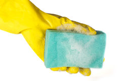 Sponge for washing dishes Stock Photos