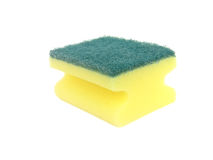 Sponge for washing dishes isolated Stock Photo