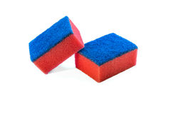 Sponge for washing dishes. Two sponges isolated on white background Royalty Free Stock Photos