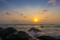 Sponge water waves on Rocks Beach, Beautiful tropical beach,Crys Stock Photography