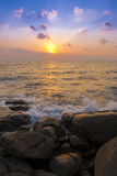 Sponge water waves on Rocks Beach, Beautiful tropical beach,Crys Stock Images