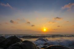 Sponge water waves on Rocks Beach, Beautiful tropical beach,Crys Royalty Free Stock Photography