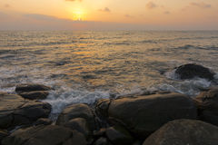 Sponge water waves on Rocks Beach, Beautiful tropical beach,Crys Royalty Free Stock Images