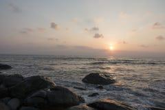 Sponge water waves on Rocks Beach, Beautiful tropical beach,Crys Stock Image