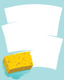 Sponge Wipe Stock Photography