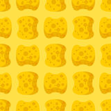 Sponge yellow for washing pattern. Cleaning background.  stock illustration