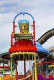Spongebob桶对于儿童水公园 库存照片