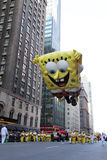 Spongebob en el desfile de Macy Imagen de archivo