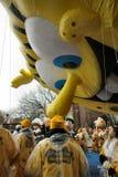 Spongebob en el desfile del día de la acción de gracias fotografía de archivo