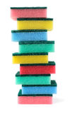 Sponges. Set of multicolor sponges, isolated on white background Royalty Free Stock Images