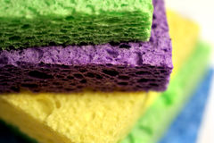 Sponges. Closeup of household sponges royalty free stock photography