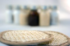 Sponges And Bottles Royalty Free Stock Images