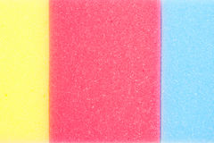 Sponges as background in colors Stock Image