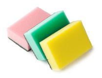 Sponges for cleaning Royalty Free Stock Images