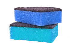 Sponges for cleaning and kitchen hygiene Royalty Free Stock Photos