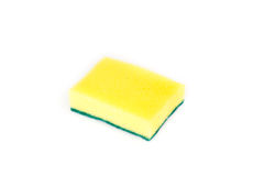 Sponges for dishwashing isolated. On white background, clipping path included Stock Photos