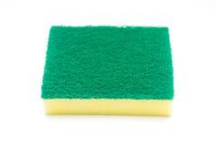 Sponges for dishwashing on white background Royalty Free Stock Photo