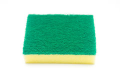 Sponges for dishwashing on white background. Cleaning royalty free stock photo