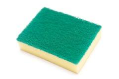 Sponges for dishwashing on white background Stock Photography