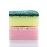 Sponges isolated on the white background Stock Photos