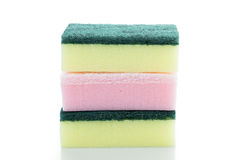 Sponges isolated on the white background Royalty Free Stock Photo