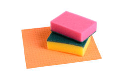 Sponges and rag Stock Photography