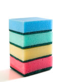 Sponges stack isolated Stock Photo