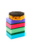 Sponges for ware washing isolated on a white Royalty Free Stock Images