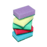 Sponges for washing dishes. Sponges for washing dishes in a stack Stock Images