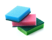 Sponges for washing dishes Royalty Free Stock Photos