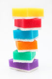 Sponges for washing dishes Royalty Free Stock Images