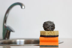 Sponges for washing dishes Stock Photos