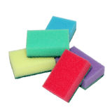 Sponges for washing dishes in a heap. Five sponges for washing dishes in a heap Royalty Free Stock Photos