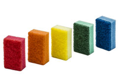 Sponges for washing dishes, isolated on white background Stock Photography