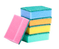 Sponges. On a white background Royalty Free Stock Photos
