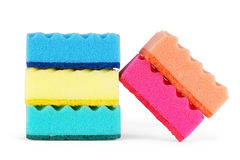 Sponges on a white background Stock Images