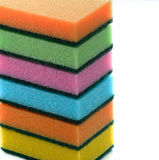 Sponges on a white background Royalty Free Stock Photo