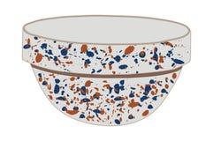 Spongeware Bowl stock illustration