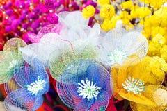 Spongewood gemaakte kunstmatige gekleurde bloemen Royalty-vrije Stock Fotografie