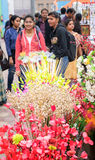 Spongewood ha fatto i fiori colorati artificiali Immagine Stock