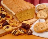 Spons, koekjes en crackers Stock Fotografie