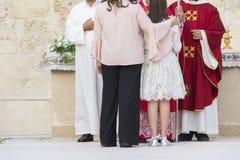 Sponsor de confirmation, foi catholique images libres de droits