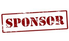 Sponsor. Stamp with word sponsor inside,  illustration Stock Photography
