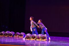 Newsboy- Beijing Dance Academy grading test outstanding children`s dance teaching achievement exhibition Jiangxi. Sponsored by the Beijing Dance Academy Grading Stock Photography