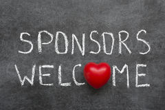 Sponsors welcome Stock Images