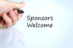 Sponsors welcome text concept royalty free stock photography